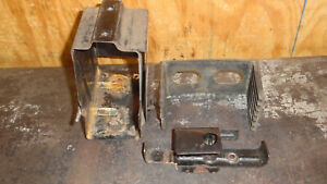 Suzuki t500 battery box with rubber and tool bracket 1974
