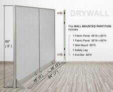 Gof Wall Mounted Office Partition Large Fabric Room Divider Panel 84w X 60h