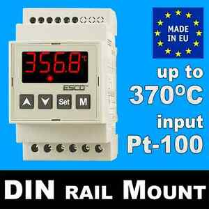 HEATING-COOLING-DIN-rail-THERMOSTAT-high-temperature-controller-Pt100-30-370-C