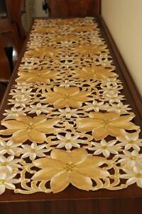 Elegantly embroidered top quality table runners for furniture and home deco