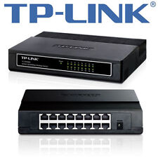 TP-LINK TL-SF1016D 16-Port 10/100Mbps Desktop Switch RJ45 LAN Ethernet - NEU