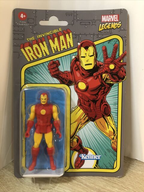 Marvel Legends Iron Man Retro 3.75 Action Figure Hasbro Kenner NIB