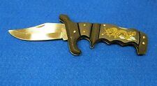 """NEW """"DRAGON""""- HANDLE, 'Tiger'... FOLDING / LOCKING STAINLESS STEEL KNIFE"""