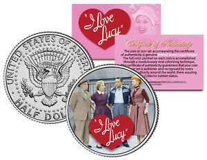 I-Love-Lucy-034-Cast-034-JFK-Kennedy-Half-Dollar-US-Coin-Officially-Licensed