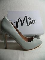 Italienische Damen Schuhe Pumps High Heels Stiletto Gr. 38 Grau Sehr Elegant