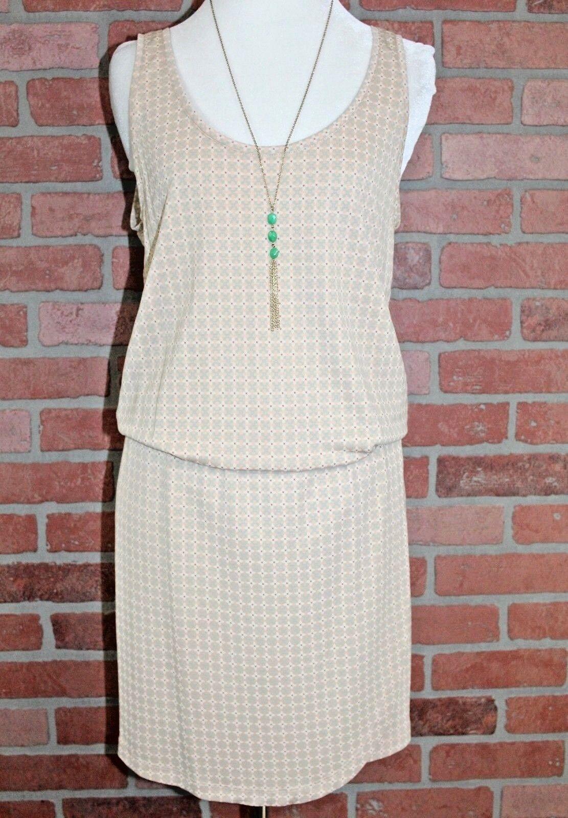 64ad0be2 ByTiMo Beige Stretchy Stretchy Stretchy Drop Waist Dress Tulip Hem Size  Small 09e425