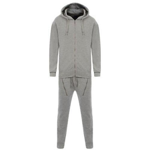 Mens Full Zip Slim Fit Jog Suit Jogging Gym Fleece Piquie Running Full Tracksuit