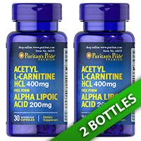 Acetyl L-carnitine 400 Mg With Alpha Lipoic Acid 200mg 2x30 Or 1x60 Puritan