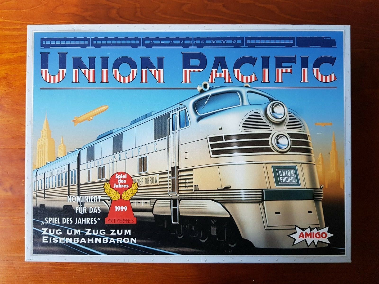 Vintage 1999 Union Pacific Board Game 100% Complete Trains Amigo Dutch Edition