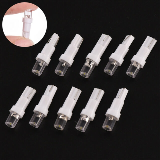 10pcs 12V T5 37 74 70 LED Car Dash Board Light Dashboard Lamp Bulb White  JR