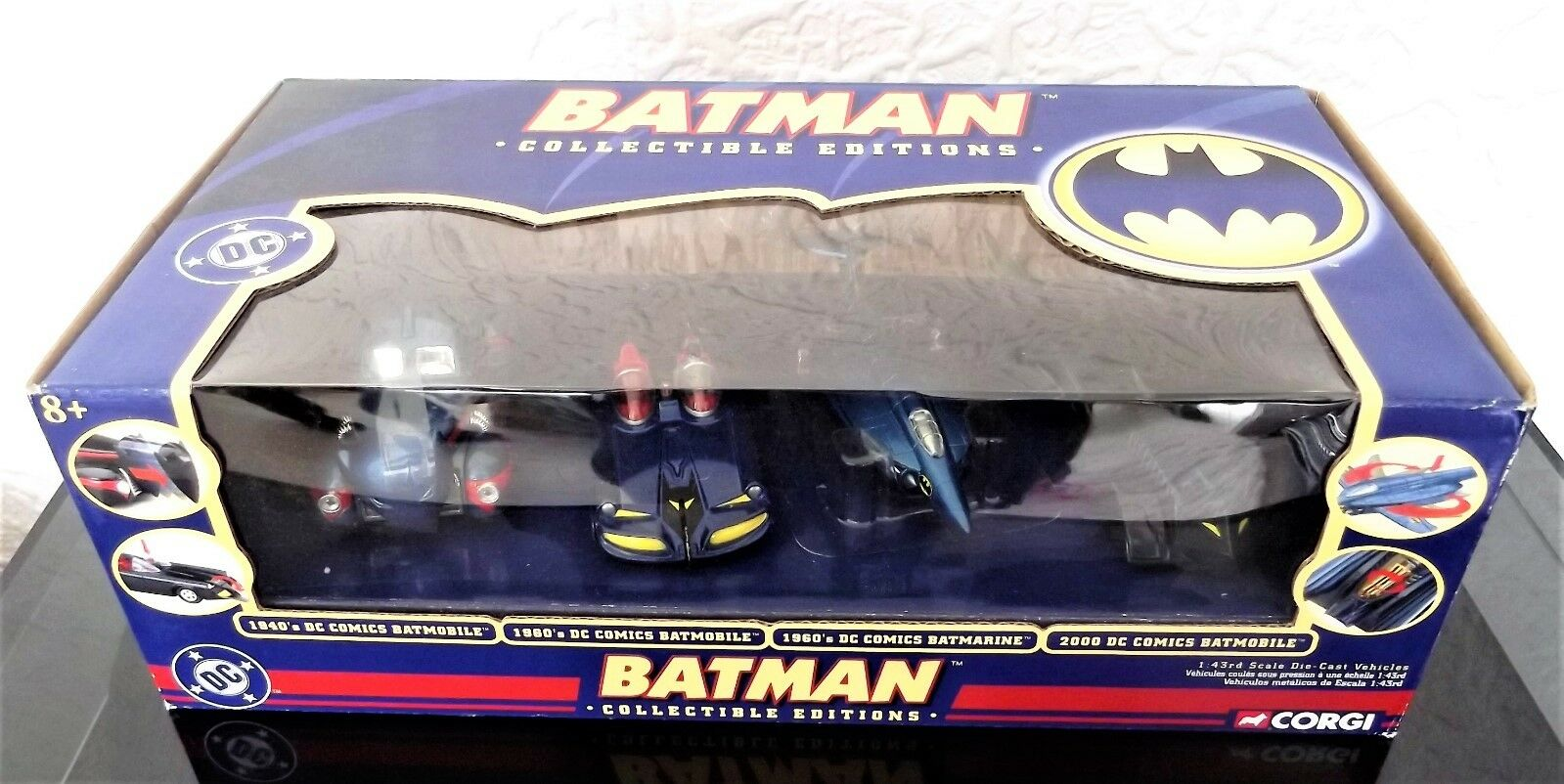 BATMAN RARE CORGI BATMAN COLLECTABLE EDITIONS 4 PIECE SET