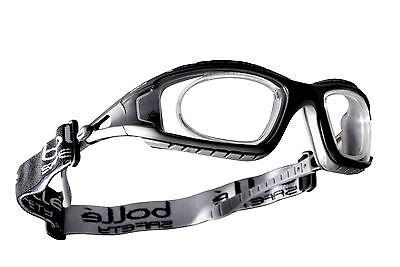 Bollé Tracker II Schutzbrille für Brillenträger + optischen Einsatz + Kopfband