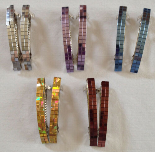 Holographic Mirror Barrettes Hair Clips Assorted Colors Wholesale 5-40 pieces