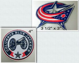 Columbus-Blue-Jackets-Iron-On-Patch-Choice-of-Style-Free-Ship-in-Envelope-Mail