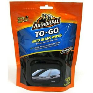 Details about Armor All To-Go Auto Glass Wipes 25 Wipes (Soft Pk) **Free  Shipping**