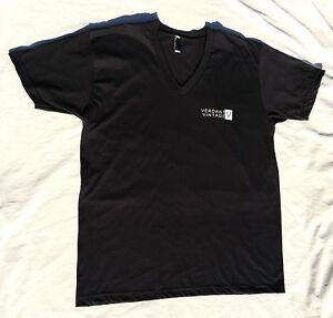Verdant-Vintage-Short-Sleeved-V-Neck-T-Shirt-100-Combed-Cotton-Men-039-s-Unisex-New