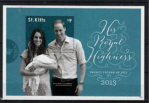 St Kitts 2013 MNH Birth Prince George Royal Baby 1v S/S William Kate Middleton