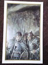 Lord Of The Rings PRINT Fantasy Art Alan Lee JRR Tolkien GORBAG and SHAGRAT Elf