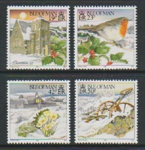 Isle-von-Mann-1995-Weihnachten-Set-MNH-Sg-668-71