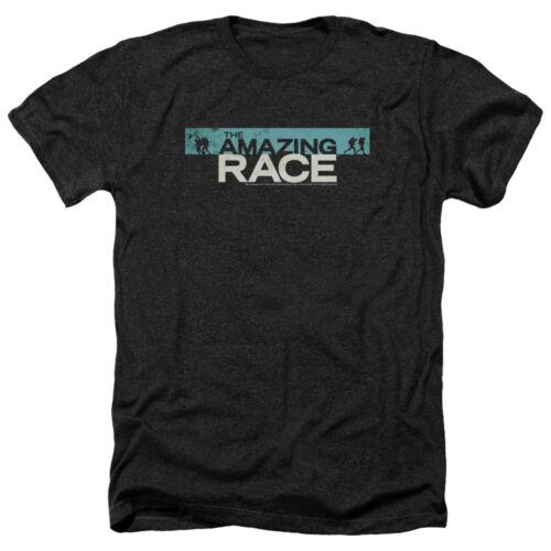 The Amazing Race TV Show BAR LOGO Vintage Style Heather T-Shirt All Sizes