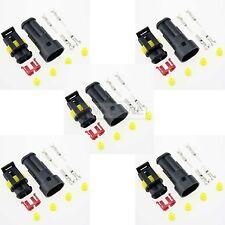 5x Superseal 2-polig Stecker Steckverbinder Wasserdicht für Auto KFZ Boot