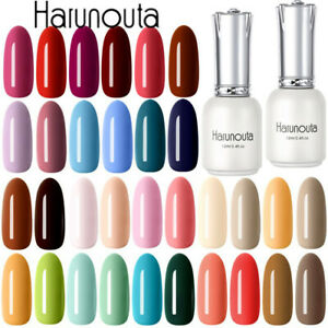 Harunouta-12ml-Nail-UV-Gel-Polish-Soak-Off-Black-Yellow-Green-Nail-Gel-Varnish