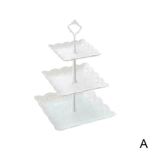 3-Tier Cake Plate Stand Tray Wedding Birthday Party Tower Cupcake Display W3N4