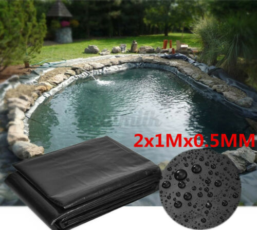 Fish Pools Pond Liner HDPE Membrane Reinforced Gardens Landscaping 0.1mm US