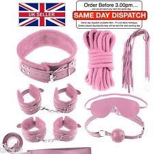 S&M Pink Leather Bondage Set Sexy Kit Fetish Bondage Slave UK Same Day Dispatch