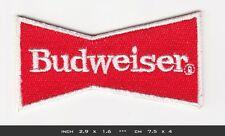 BUDWEISER Aufnäher Aufbügler Patches Nascar Racing Team Indycar V8 USA
