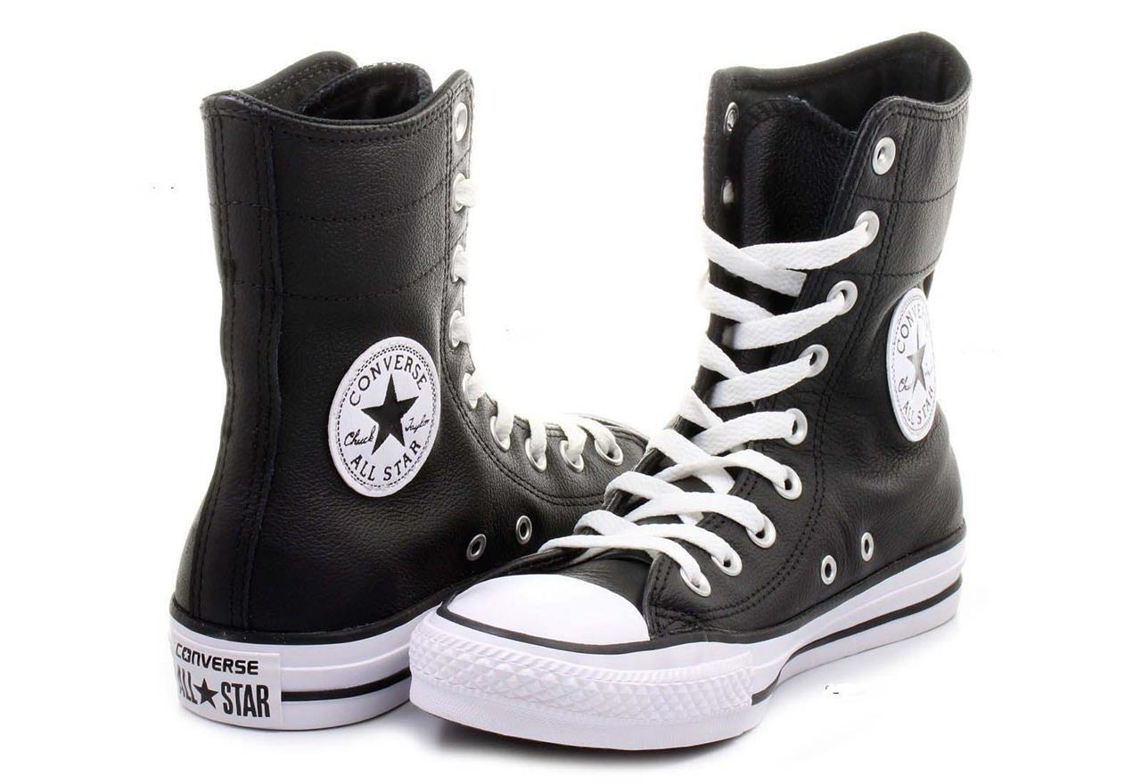 Converse Converse Converse nero Leather Hi-Rise 9-Eye Ankle Calf stivali   scarpe Wms 5 NWOT DISC 587abf