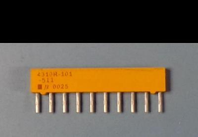 RESISTOR NETWORK 220 Ohm 2/% 1.25W SIP-10PIN T.H. 5x BOURNS  4310R-101-221