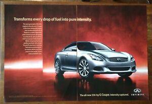 2007 Gray Infinity G Coupe 330HP Sports Sedan Photo Vintage Car Print AD Poster