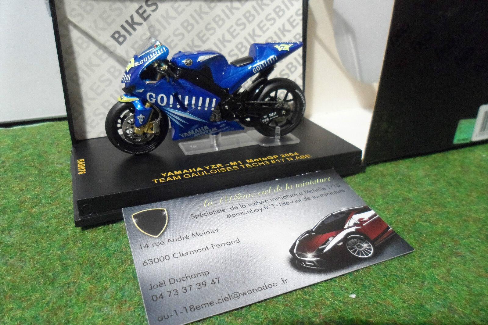 MOTO YAMAHA YZR-M1 GAULOISES MotoGP 2004 N. Abe 1 24 IXO RAB076 miniature