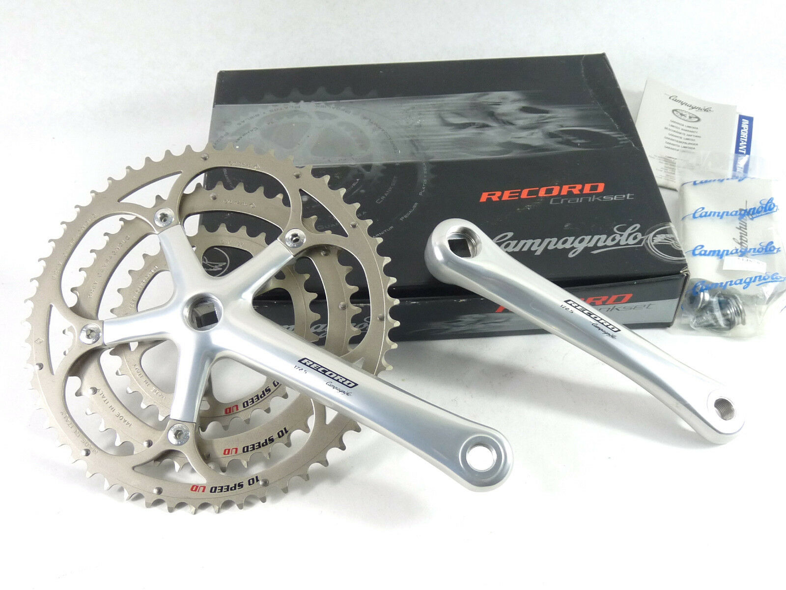 Campagnolo Record Triple Crankset 10 Speed 172.5mm  53 42 30 Ultra Drive NOS