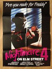 Filmposter * Kinoplakat * A1 * Nightmare on Elm Street 4 * EA 1989