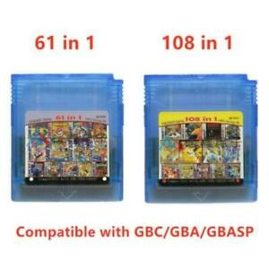 Game Boy Color cartridge 61 in 1 (multi cart for GameBoy, GBC) or 108 games in 1 1