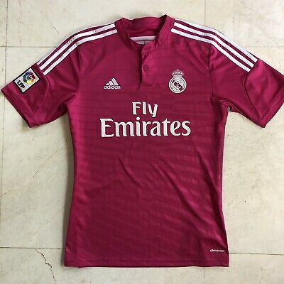 best authentic 8a074 73ec4 ADIDAS FC REAL MADRID Pink Jersey 2014 Away Shirt SIZE LARGE | eBay