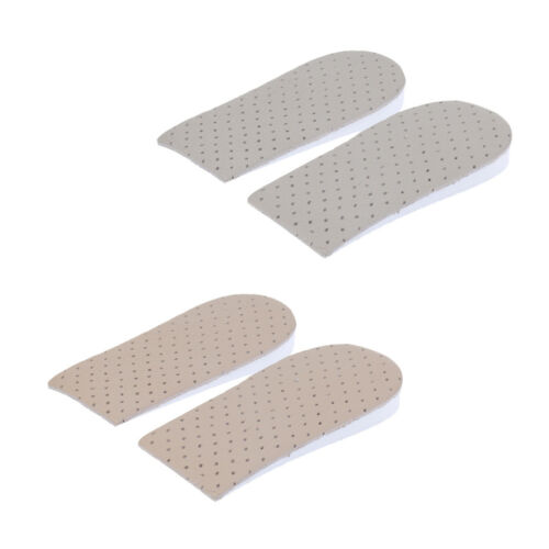 2 Pair Height Increase Shoe Insoles Inserts Half Pads Heel Lift Taller Pad