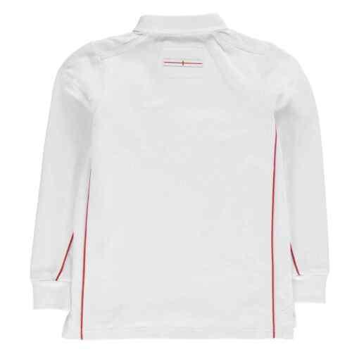 RFU Kids Angleterre Maillot à manches longues bébé Garçons Smart Polo En Coton Top