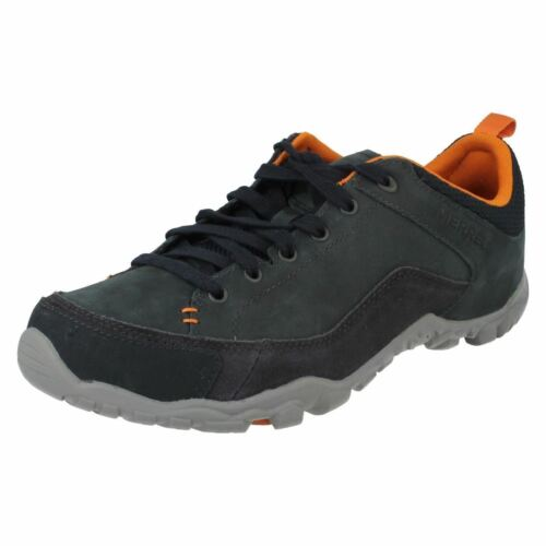 Mens Merrell Telluride Lace Navy Leather Casual Walking//Hiking Shoes