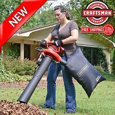 Leaf Vac Blower Shredder Vacuum Handheld Bag 2 Speed Electric Mulcher Yard Lawn