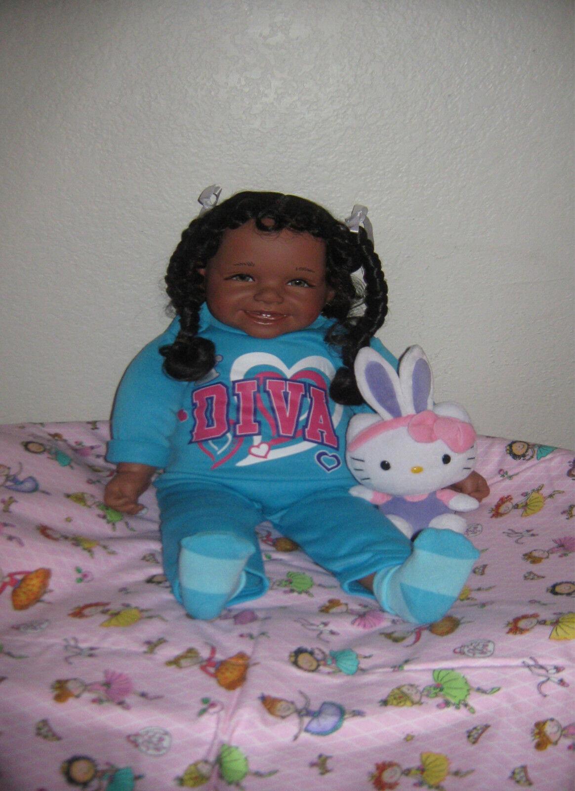 Reborn  25 inch Ethnic Biracial Doll Naree