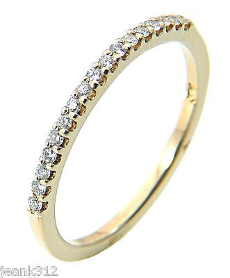 Diamond Wedding Ring Band Classic 14k Yellow Gold Engagement Anniversary Ring