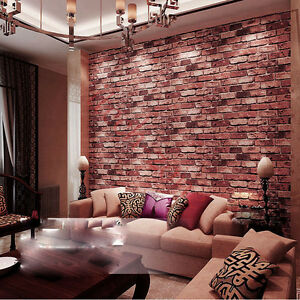 Image Is Loading Retro 3D Textured Brick Effect Wallpapers Stone Wall