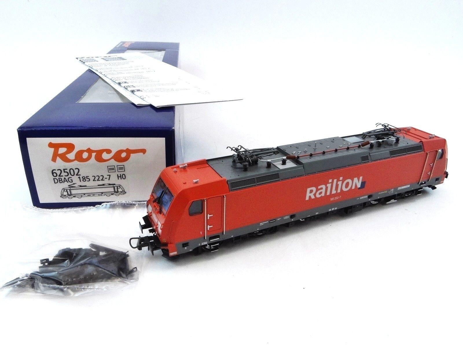 ROCO 62502 E-Lok BR 185 222-7 DB-AG Railion TRAXX p160 ac2 DC DSS analogico h0