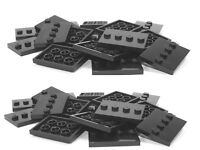 Lego Lot Of 50 Black Plates 3x4 Tiles Base Stand For Minifigures Series