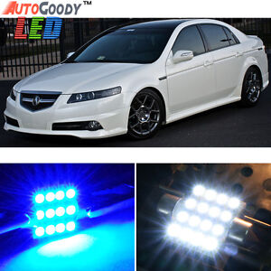 11 x premium blue led lights interior package kit for - 2004 acura tl led interior lights ...