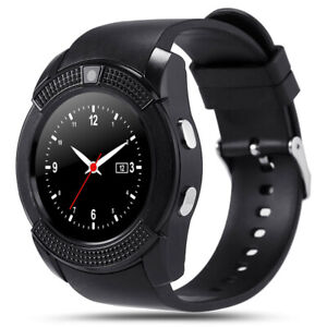 V8-SIM-Card-Support-Remote-Picture-Bluetooth-Touch-Screen-Smart-Watch-Black