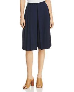 25975477a1 Tory Burch Faye Culotte Pleated Shorts Skirt Tory Navy 2 Nwt $298 | eBay